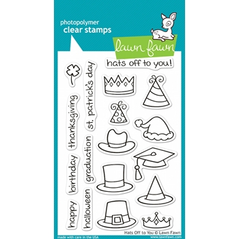 Lawn Fawn HATS OFF TO YOU Clear Stamps