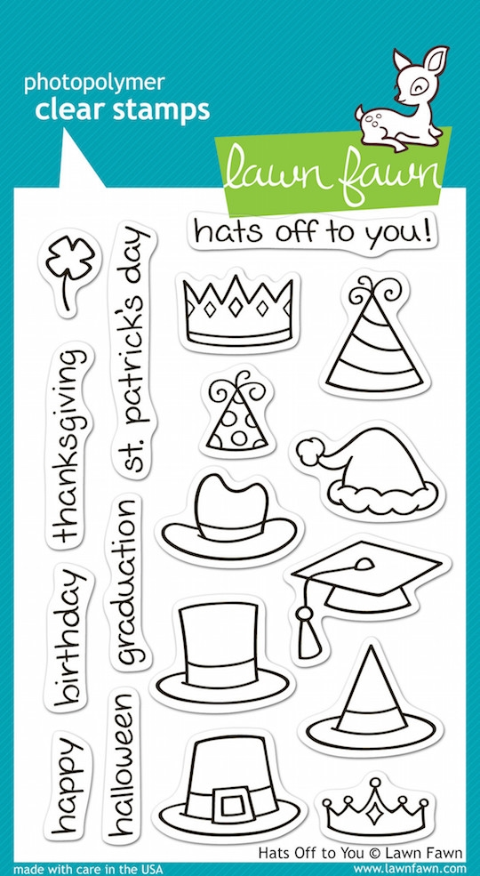 Lawn Fawn HATS OFF TO YOU Clear Stamps zoom image