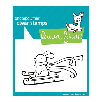 Lawn Fawn WINTER BUNNY Clear Stamp