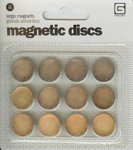 BasicGrey LARGE MAGNETIC DISCS Self Adhesive MET522 Preview Image