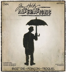 Tim Holtz Sizzix Die UMBRELLA MAN Bigz Alterations 657189