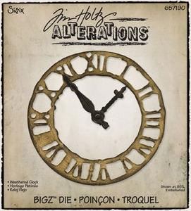 Tim Holtz Sizzix Die WEATHERED CLOCK Bigz Alterations 657190 Preview Image