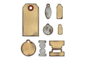Tim Holtz Sizzix Die TINY TABS & TAGS Bigz Alterations 657188 Preview Image