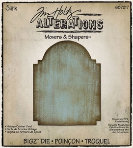 Tim Holtz Sizzix Die VINTAGE CABINET CARD Movers & Shapers Bigz Alterations 657217