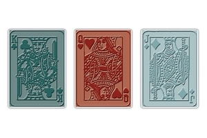 Tim Holtz Sizzix POKER FACE Texture Fades Embossing Folders 657194 Preview Image