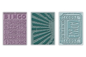 Tim Holtz Sizzix PLAYING GAMES Bingo Texture Fades Embossing Folders 657193