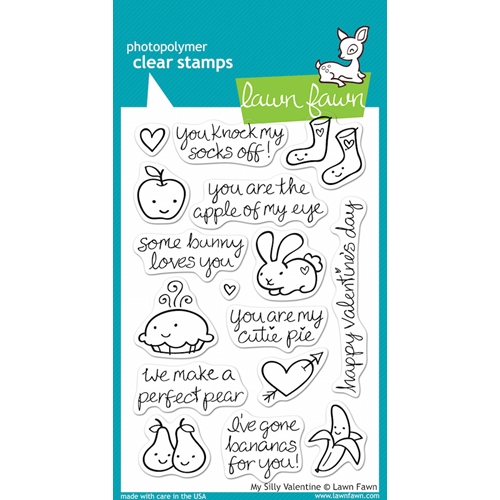 Lawn Fawn MY SILLY VALENTINE Clear Stamps Preview Image