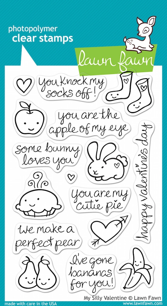 Lawn Fawn MY SILLY VALENTINE Clear Stamps zoom image