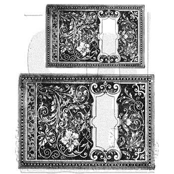 Tim Holtz Cling Rubber Stamps BOOK COVERS CMS103