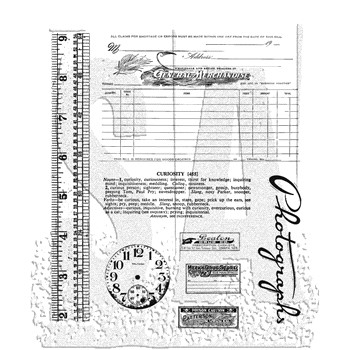 Tim Holtz Cling Rubber Stamps CURIOSITIES CMS104