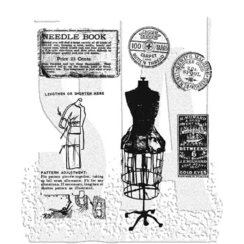Tim Holtz Cling Rubber Stamps HABERDASHERY CMS105