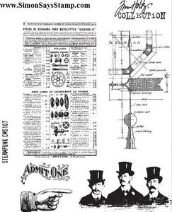 Tim Holtz Cling Rubber Stamps STEAMPUNK CMS107 Preview Image