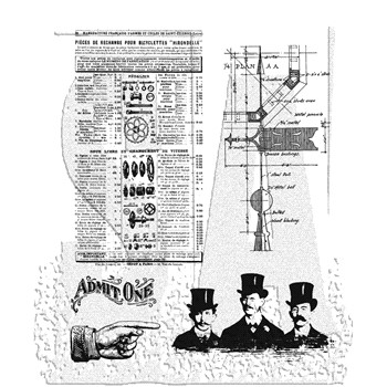 Tim Holtz Cling Rubber Stamps STEAMPUNK CMS107