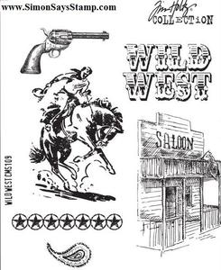 Tim Holtz Cling Rubber Stamps WILD WEST CMS109