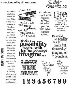 Tim Holtz Cling Rubber Stamps STUFF TO SAY CMS110 Preview Image
