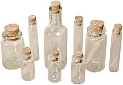 Tim Holtz Idea-ology CORKED VIALS 9 Glass Bottles TH92899 zoom image