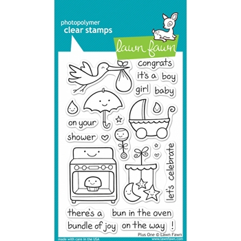 Lawn Fawn PLUS ONE Clear Stamps