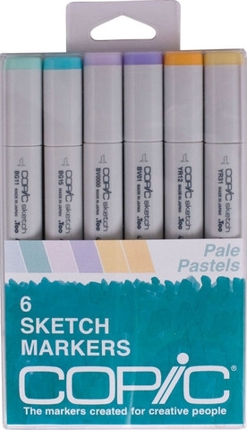 Copic Sketch PALE PASTELS Markers Kit Preview Image
