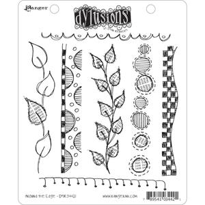 Dyan Reaveley AROUND THE EDGE Stamp Set Dylusions Cling Unmounted Rubber DYR34421*