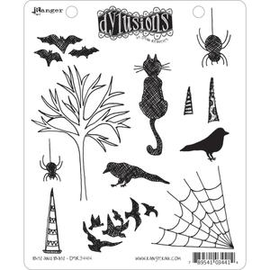 Dyan Reaveley BITS AND BATS Stamp Set Dylusions Cling Unmounted Rubber DYR34414*