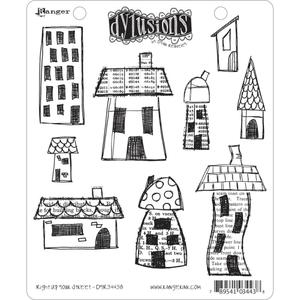 Dyan Reaveley RIGHT UP YOUR STREET Stamp Set Dylusions Cling Unmounted Rubber DYR34438
