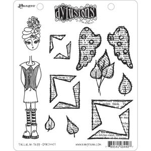Dyan Reaveley TALLULAH TRIPP Stamp Set Dylusions Cling Unmounted Rubber*