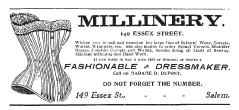 Tim Holtz Rubber Stamp MILLINERY AD Stampers Anonymous e2-1647 Preview Image