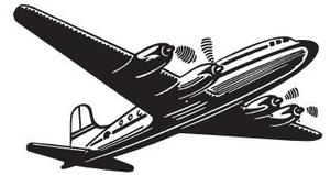 Tim Holtz Rubber Stamp AIRLINER Stampers Anonymous m1-1652 Preview Image