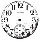 Tim Holtz Rubber Stamp CLOCK g1-1660* Preview Image