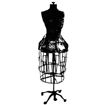 Tim Holtz Rubber Stamp DRESS FORM Stampers Anonymous p3-1670