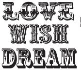 Tim Holtz Rubber Stamp LOVE WISH DREAM Stampers Anonymous h1-1697* Preview Image