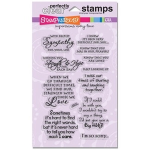 Stampendous Clear Stamps SINCERE SENTIMENTS SSC1117 Preview Image