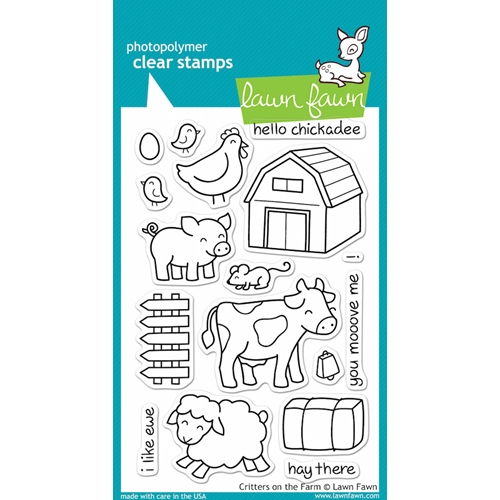 Lawn Fawn CRITTERS ON THE FARM Clear Stamps Preview Image