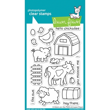 Lawn Fawn CRITTERS ON THE FARM Clear Stamps