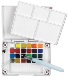 Sakura KOI WATERCOLORS SKETCH BOX 24 Colors With Waterbrush XNCW24N zoom image