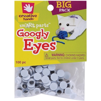 Creative Hands 100 BLACK GOOGLY EYES 88101-55E*
