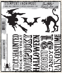 Tim Holtz Cling Rubber Stamps HALLOWEEN SILHOUETTES CMS115*