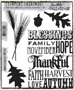 Tim Holtz Cling Rubber Stamps THANKFUL SILHOUETTES CMS116 Preview Image