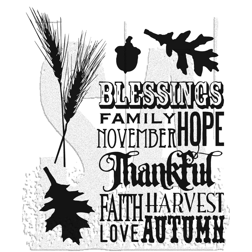 Tim Holtz Cling Rubber Stamps THANKFUL SILHOUETTES CMS116 zoom image