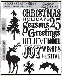 Tim Holtz Cling Rubber Stamps SEASON'S SILHOUETTES CMS117 Preview Image