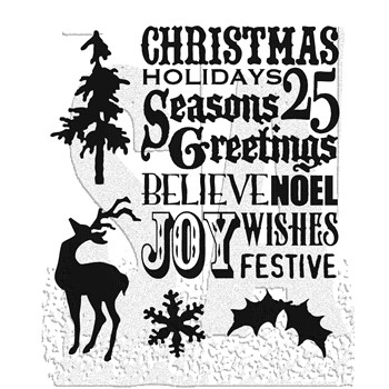 Tim Holtz Cling Rubber Stamps SEASON'S SILHOUETTES CMS117