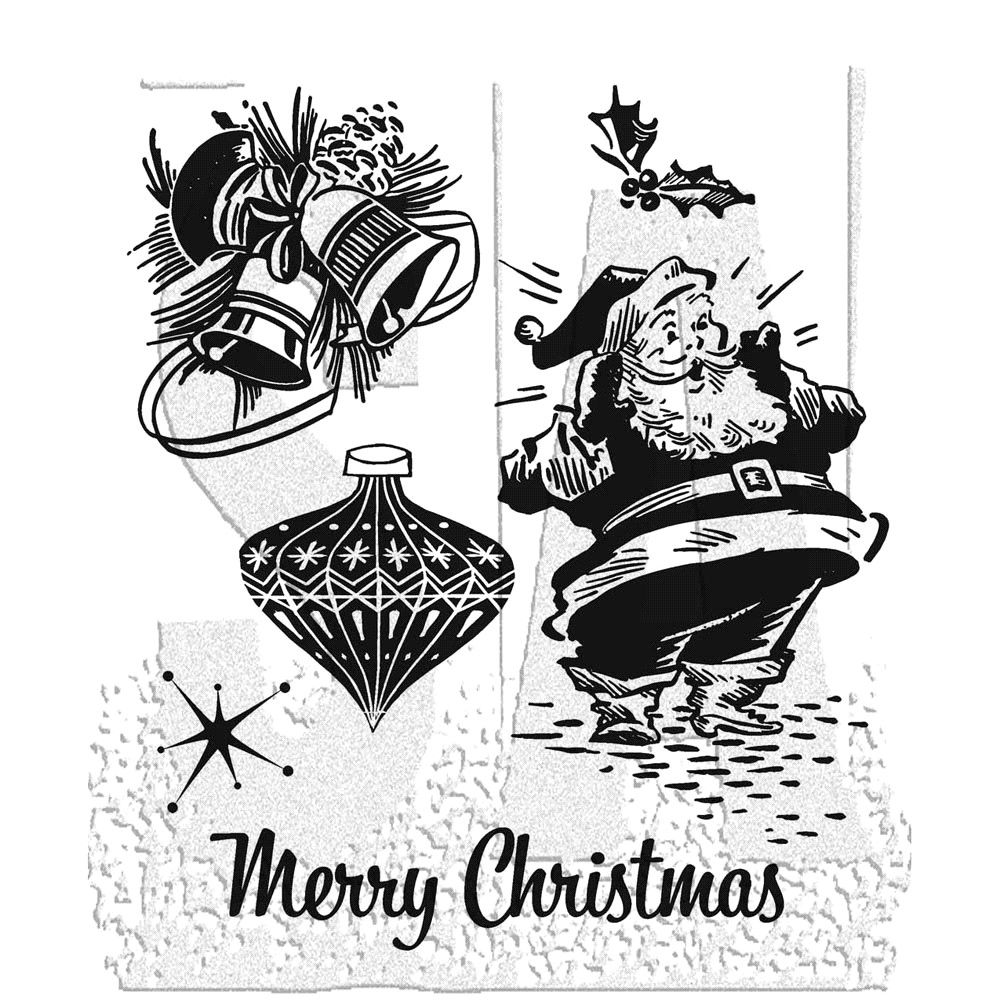 Tim Holtz Cling Rubber Stamps CHRISTMAS MEMORIES CMS118 zoom image
