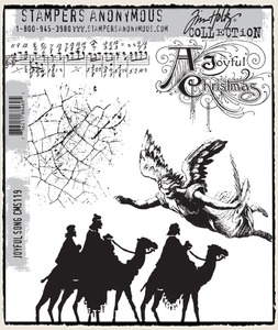 Tim Holtz Cling Rubber Stamps JOYFUL SONG CMS119