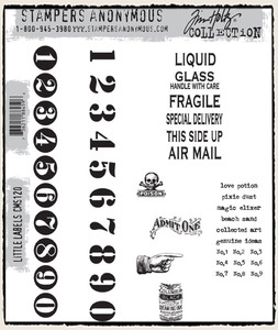 Tim Holtz Cling Rubber Stamps LITTLE LABELS CMS120