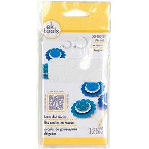 EK Success 1/8 inch CIRCLES 3-D Foam Dots Adhesive 55-01046