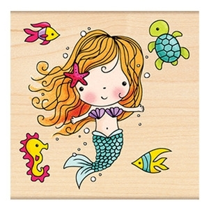 Penny Black Rubber Stamp MIMI THE MERMAID 4186K Preview Image