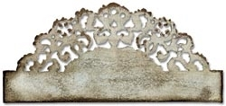 Tim Holtz Sizzix DISTRESSED DOILY On the Edge Die 657496