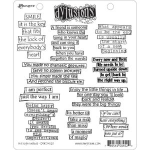 Dyan Reaveley THE RIGHT WORDS Stamp Set Dylusions Cling Unmounted Rubber DYR34520 zoom image