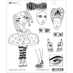 Dyan Reaveley CURIOUS CORRIN Stamp Set Dylusions Cling Unmounted Rubber