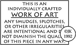 Judikins WORK OF ART Rubber Stamp 1755